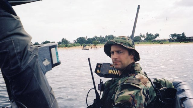 PHOTO: Lt. Denver in Monrovia Harbor, Liberia, 2003.