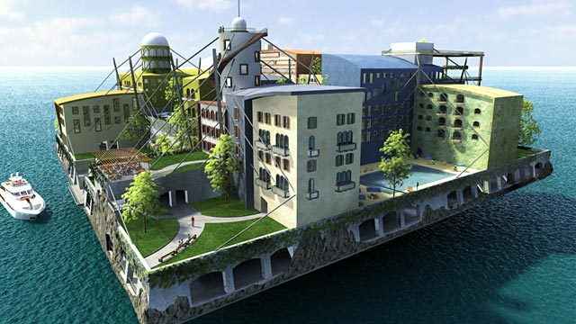 PHOTO: Artificial island