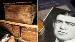 Photo: Explorers century-old whisky found in Antarctic