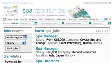PHOTO: Spa and wellness job listings