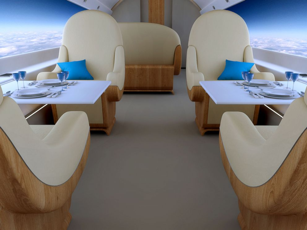 PHOTO: Pictured is a S-512 Supersonic Jet interior.