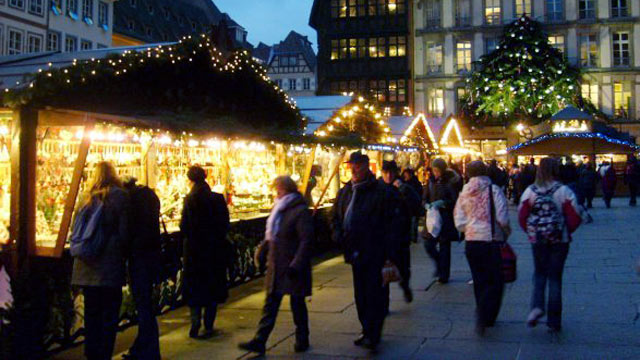 PHOTO: Strasbourg may be in France, but it's close to the German border, and you'll find a strong German influence in many local traditions...including the city's Christmas Market, the Christkindelsmarik.