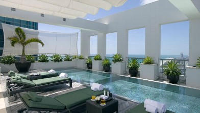 PHOTO: Terrace in Setai South Beach.