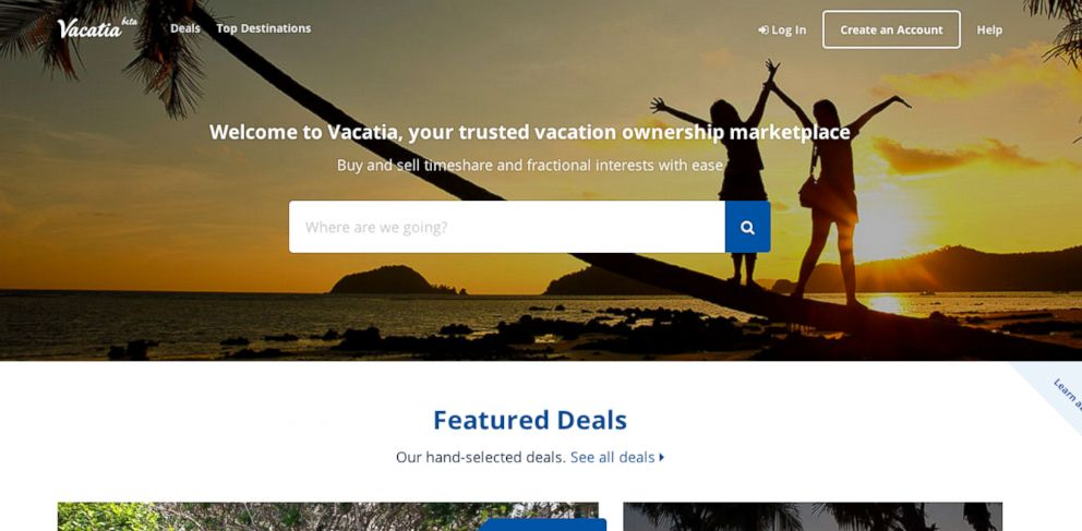 PHOTO: New site Vacatia offers a central hub for travelers interested in buying or selling a timeshare.