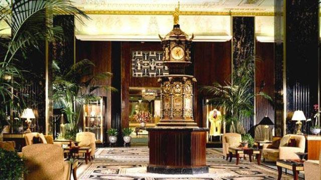 PHOTO: The main lobby of The Waldorf Astoria in New York City.