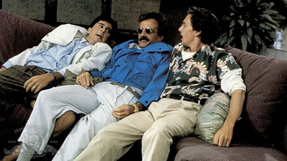 "PHOTO: Jonathan Silverman, Terry Kiser, and Andrew McCarthy star in the 1989 film ""Weekend at Bernies."""