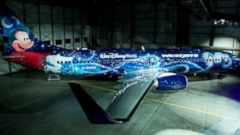 PHOTO: WestJet and Disney Parks and Resorts Canada today unveiled a custom-painted Boeing Next-Generation 737-800