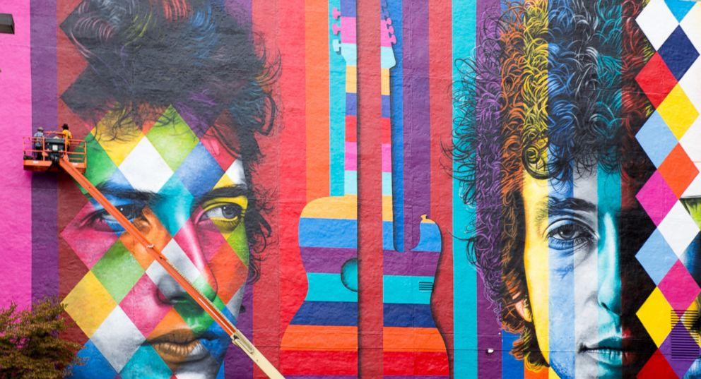 PHOTO: Bob Dylan mural in Minneapolis.