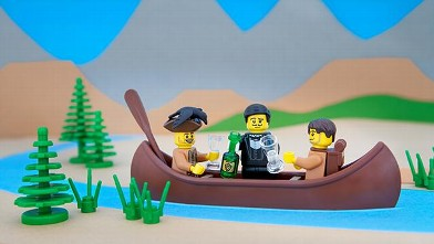 Whimsical LEGO dioramas take us on a tour of the U.S.