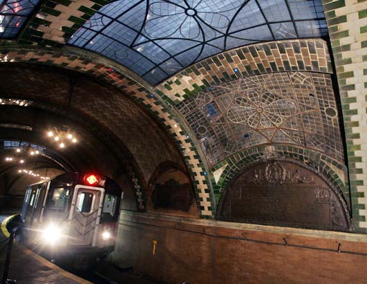 new york city subway. City Hall Station, New York
