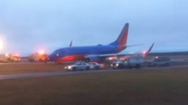 VIDEO: Passengers were forced to evacuate following what appeared to be a pilots wrong turn.