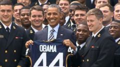 VIDEO: President Obama Honors Naval Academy Football Team