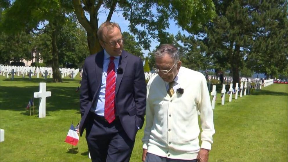 VIDEO: World War II soldier Cosmo Uttero visits Normandy for first time since war to retrace his steps.