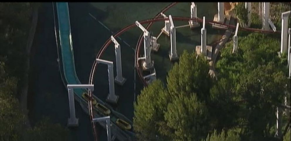 Riders Stranded on California Roller Coaster