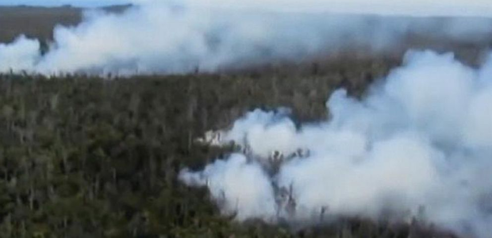 VIDEO: A lava flow is closing in on a group of houses in Hawaii.