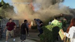 Dramatic Rescue of Man from Burning Home in California
