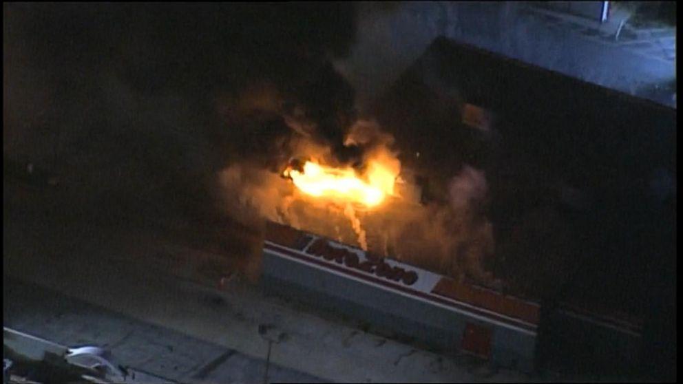 Ferguson Protest Fire: AutoZone Video - ABC News
