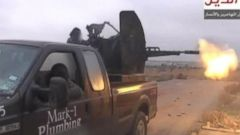 VIDEO: A photo of the truck once owned by a Texas City plumbing company was posted on Twitter by an Islamic militant group.