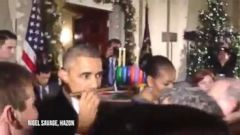 VIDEO: Obama Surprised By Cuban Cigar Gift