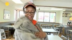 VIDEO: A customer at a Southeast Texas Whataburger gave her mink coat, worth nearly $10,000, to an employee who complimented it.