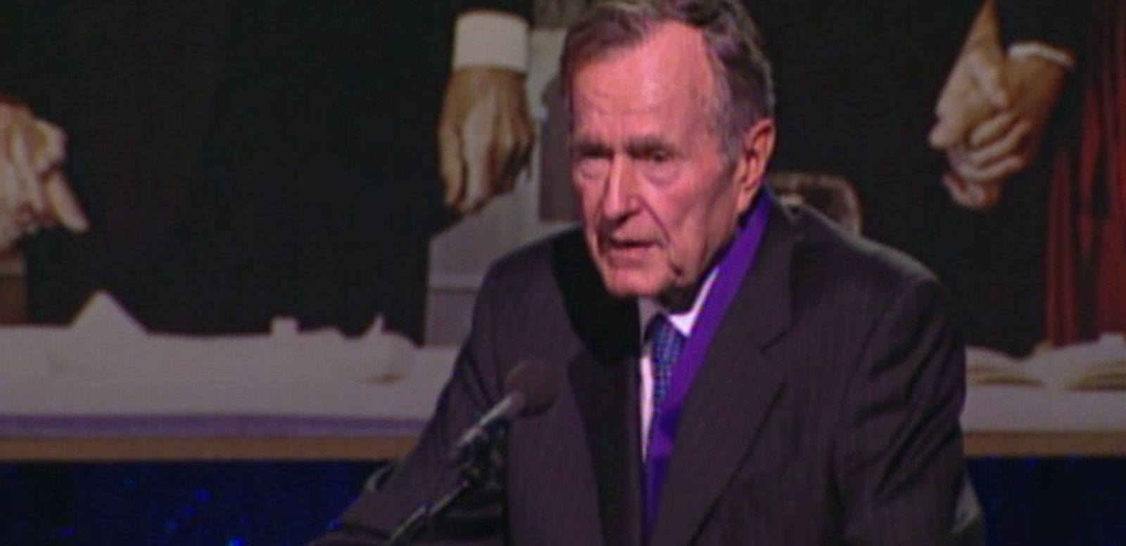 VIDEO: Shortness of breath being monitored, Bush spending Christmas Eve in hospital.