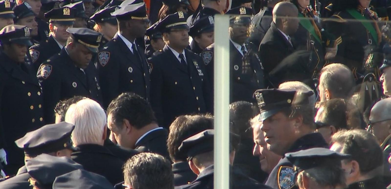 VIDEO: Casket Leaves Church After Funeral for NYPD Officer