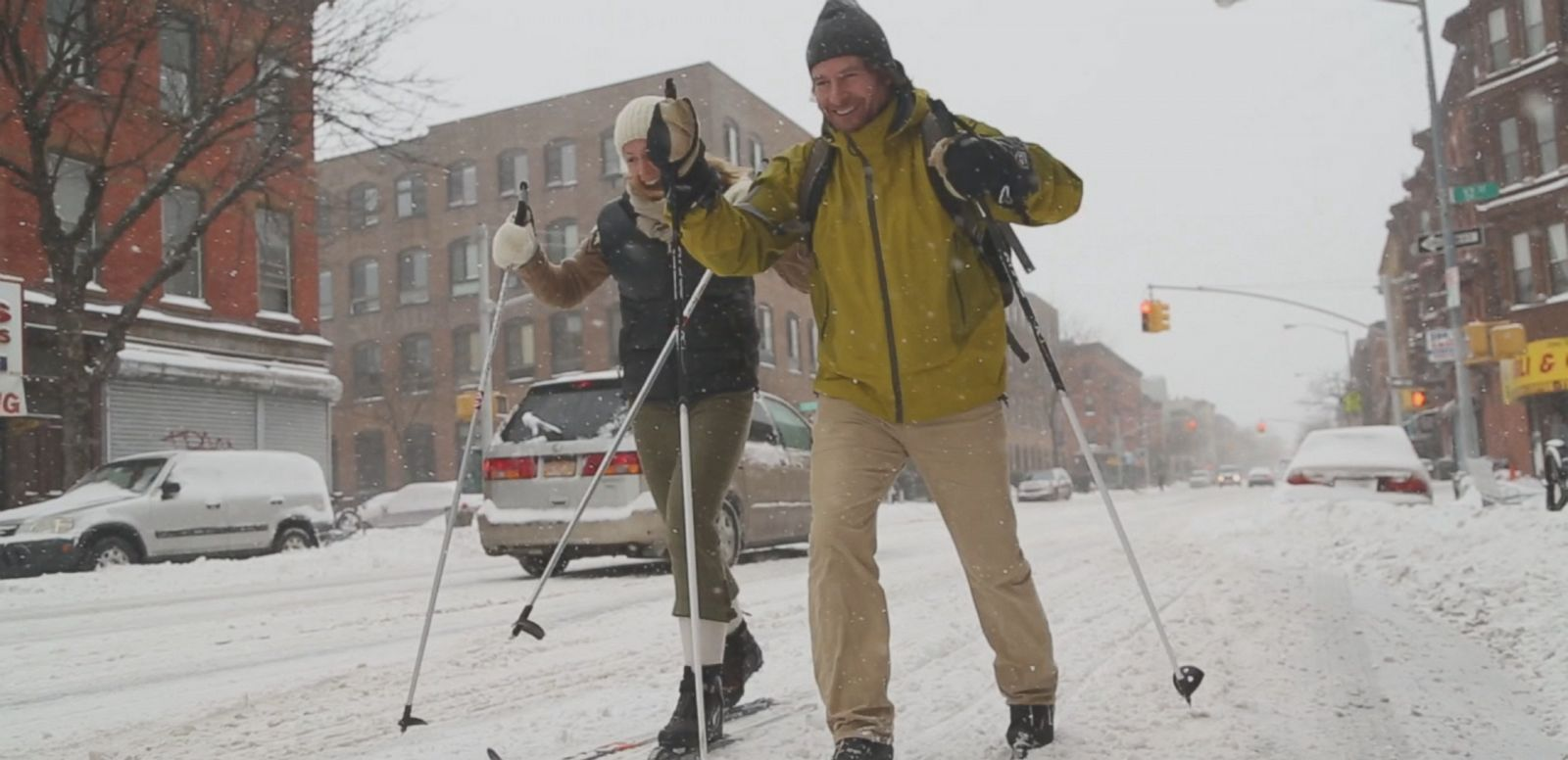 VIDEO: New Yorkers Take On The Blizzard That Wasn't