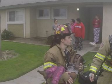VIDEO: Members of the Fresno Fire Department were able to pull three children out of an apartment fire.