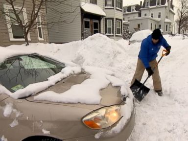 Watch:  This Blizzard-Stranded Woman Really Needs to Get to Work