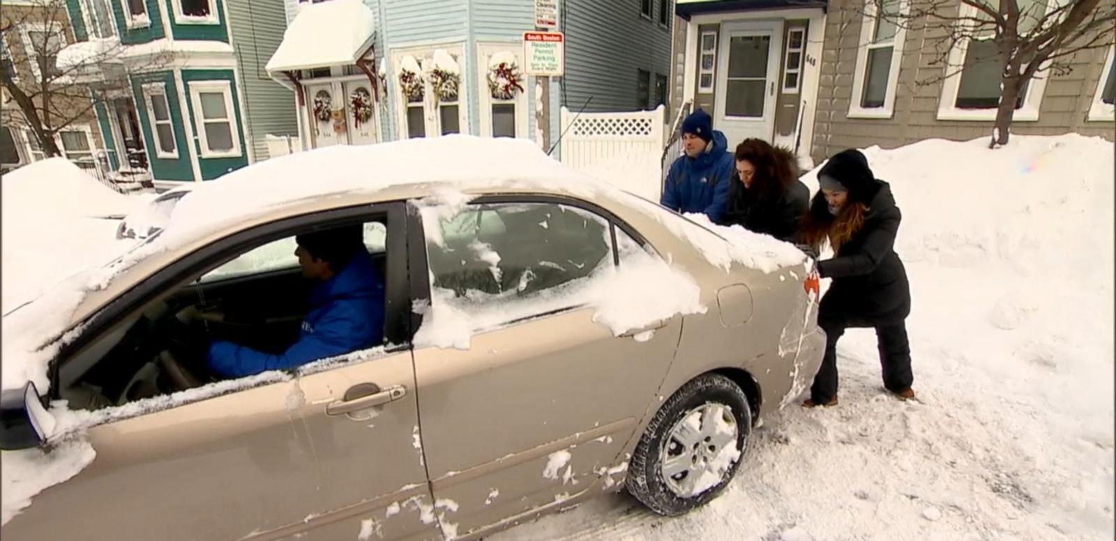 VIDEO: New England Reacts to Season's First Blizzard