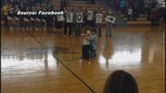 VIDEO: Autumn Pollard, who suffers from a genetic disorder, was surprised with a prom-posal during a school pep rally.