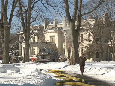 Watch:  Fire Damages Historic Woolworth Mansion