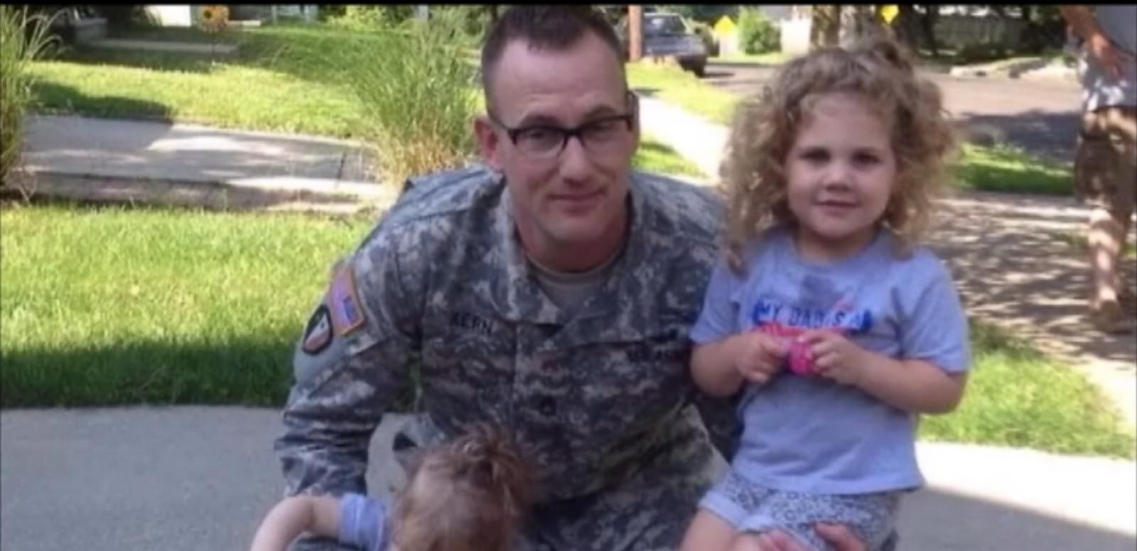 VIDEO: Soldier Surprises Daughters for Birthday Celebration