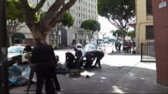 VIDEO: Video shows a man shot four times by police in downtown Los Angeles.