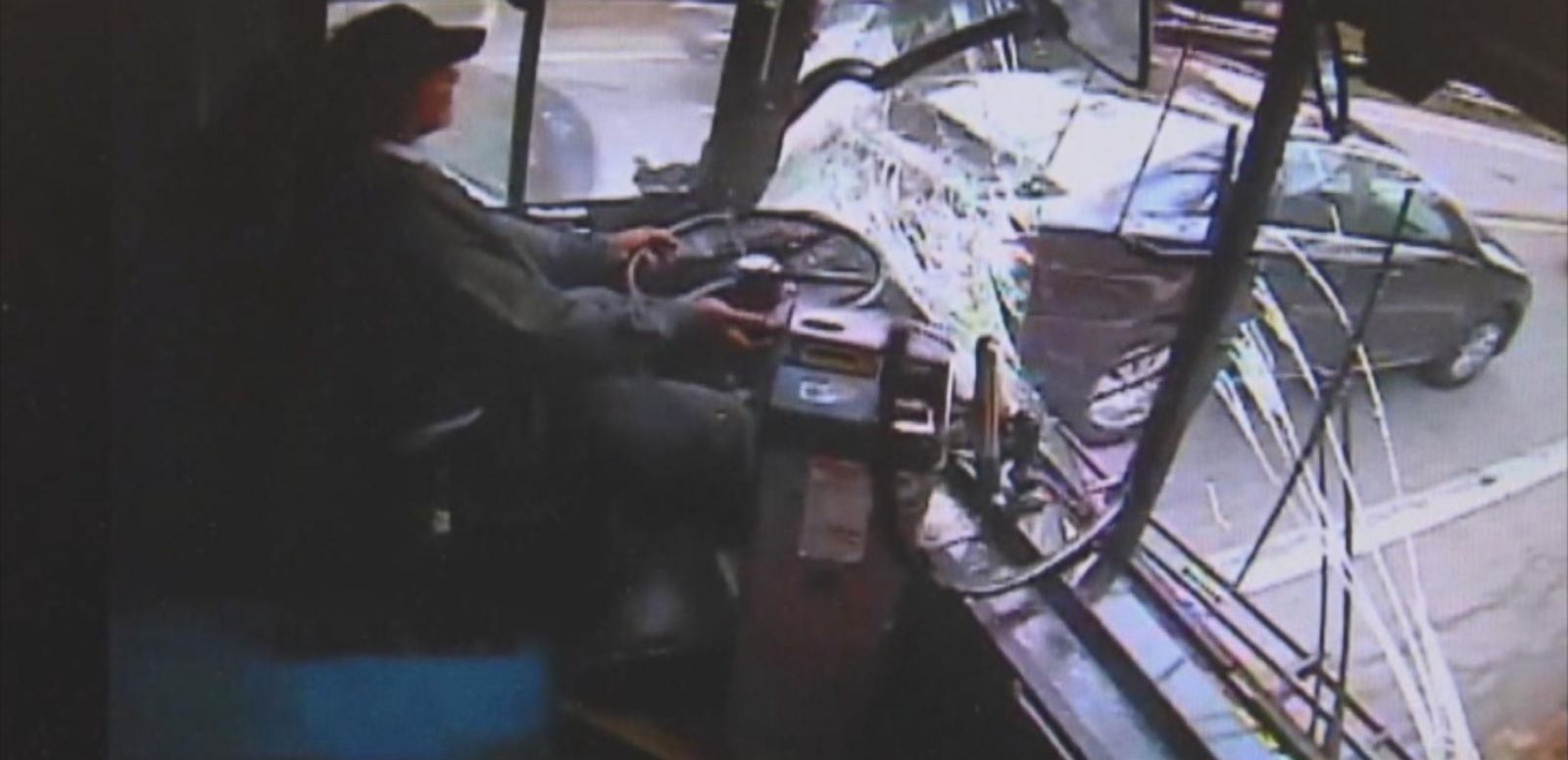VIDEO: Caught on Camera: Bus Driver Falls Asleep Behind the Wheel