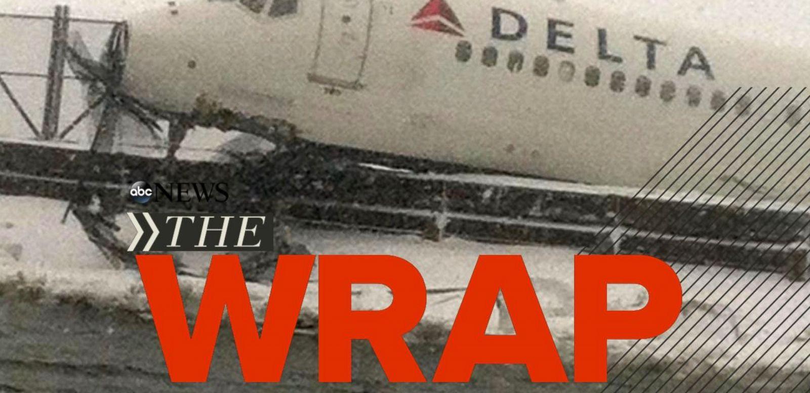VIDEO: Delta Plane Skids Off Runway at LGA; Michael Brown's Family to File Civil Suit; Jury Hung in Jodi Arias Trial