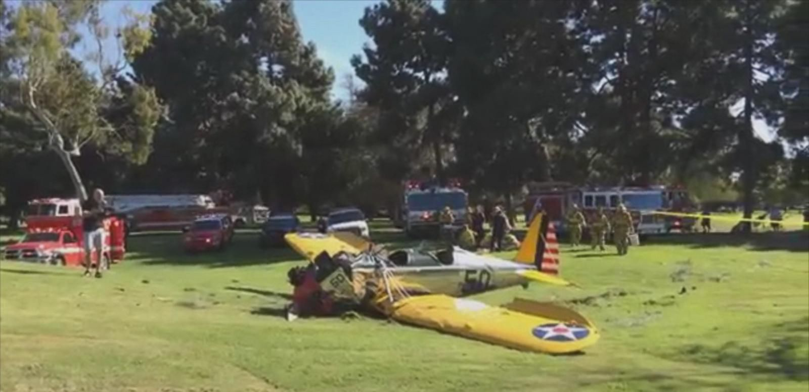 VIDEO: ABC News' Nick Watt has an update on the legendary actor's condition after his plane crash landed on a golf course in Southern California.