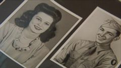 VIDEO: Bill Moore, 90, was reunited with the letter he wrote in 1944 to his then sweetheart Bernadean, whom he later married.
