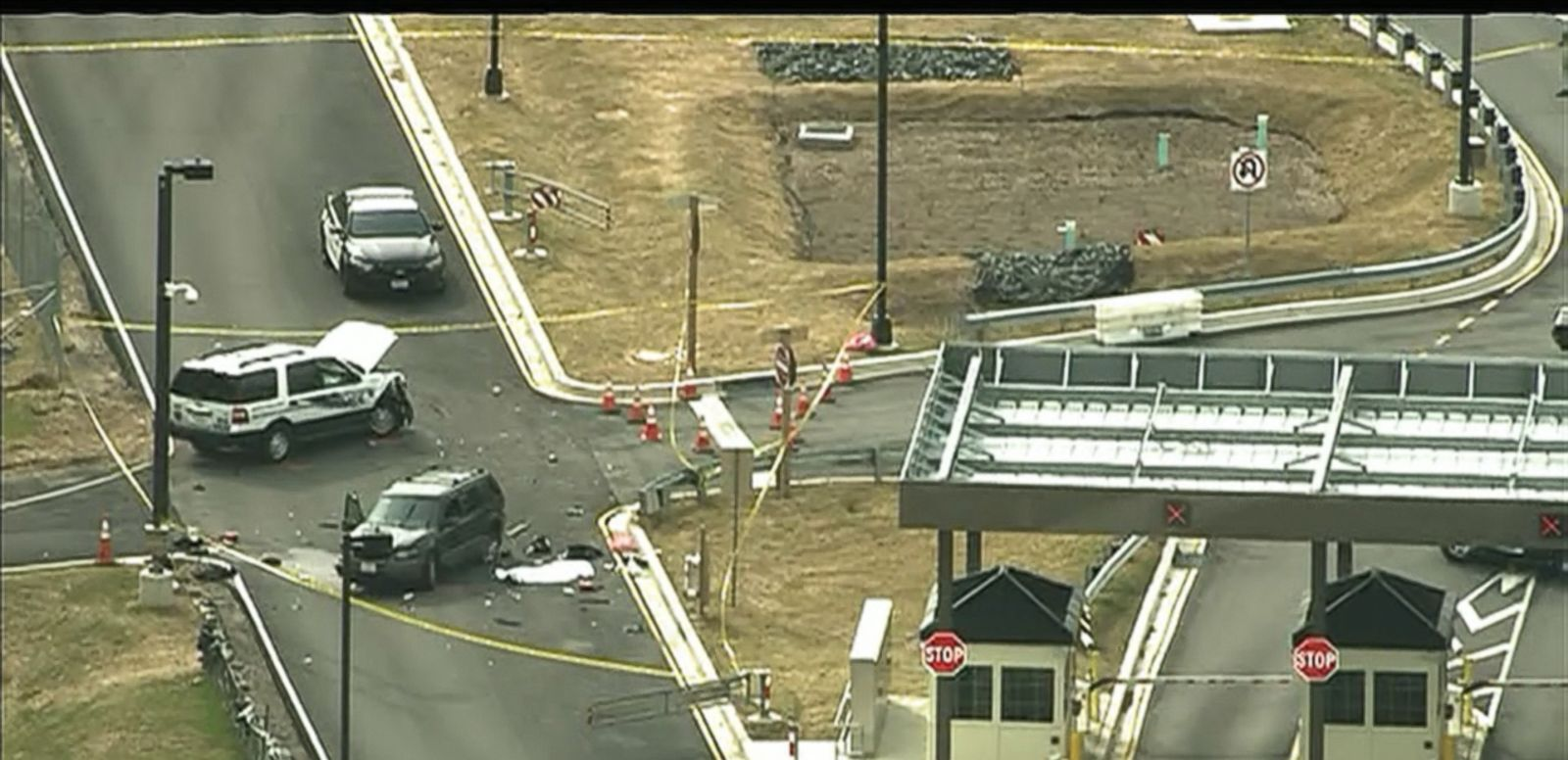 VIDEO: One man is dead and another seriously injured after a shootout at one of the main gates of the National Security Agency located at Fort Meade, Maryland.