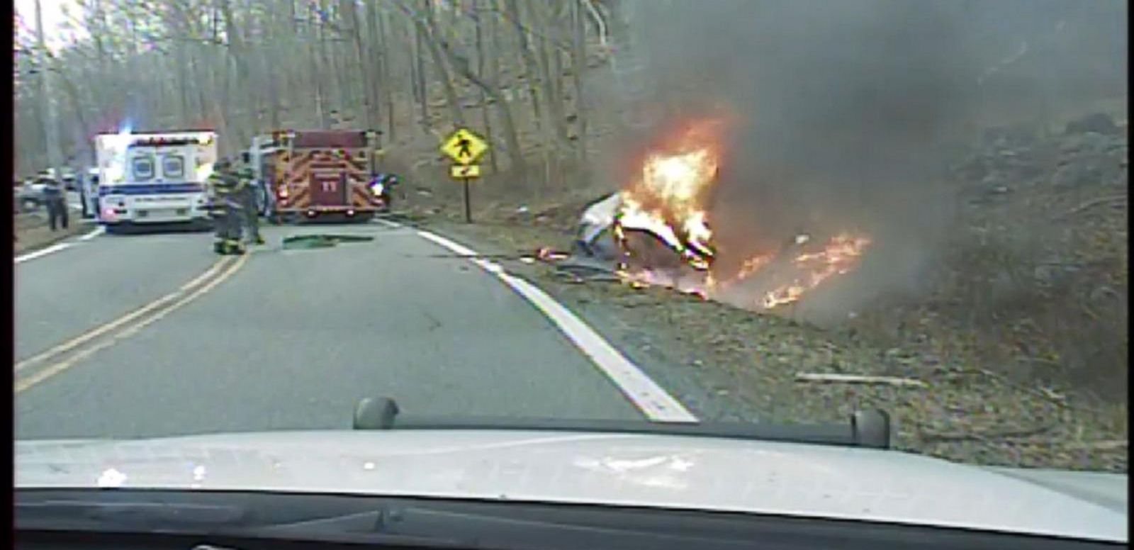 VIDEO: Police Dash Cam Records NJ Car Crash Rescue