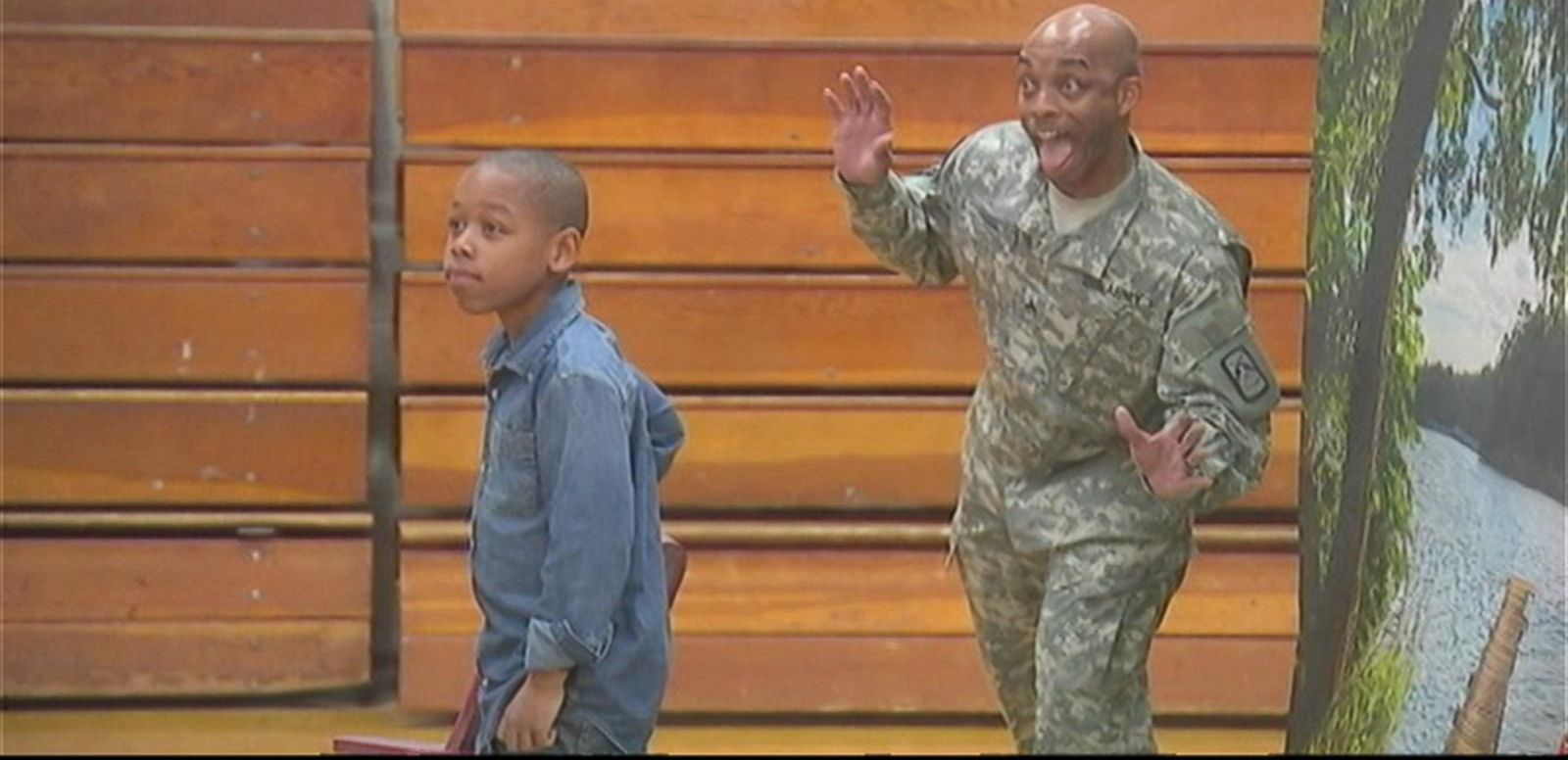VIDEO: North Carolina Soldier Surprises Son at School Photo Shoot