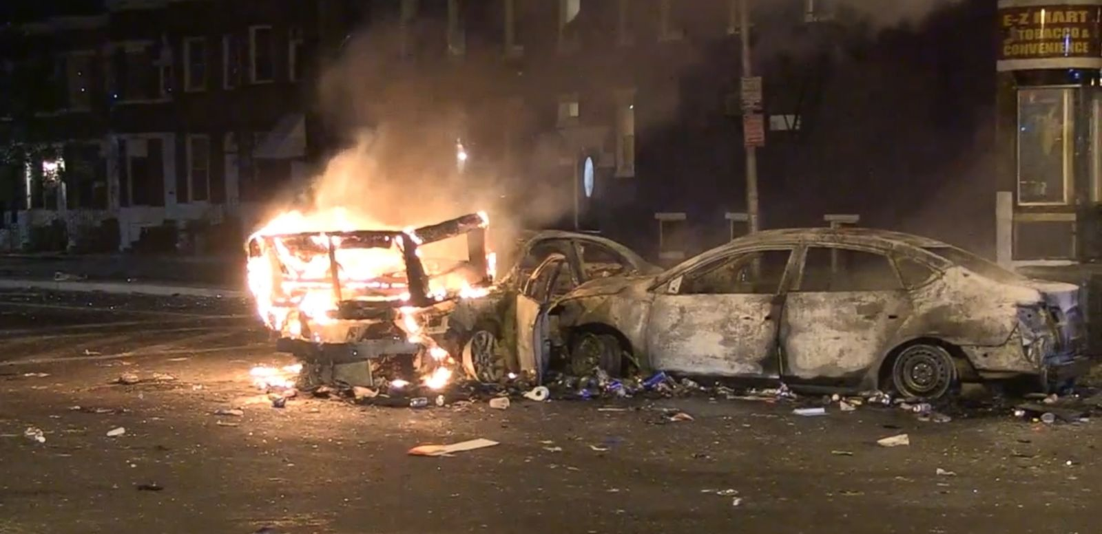 VIDEO: Fusion's Tim Pool reports from the streets of Baltimore as cars burn and rioters throw projectiles at police.