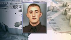 VIDEO: Brian Moore, 25, was on duty as part of an anti-crime unit when he was shot, police said.