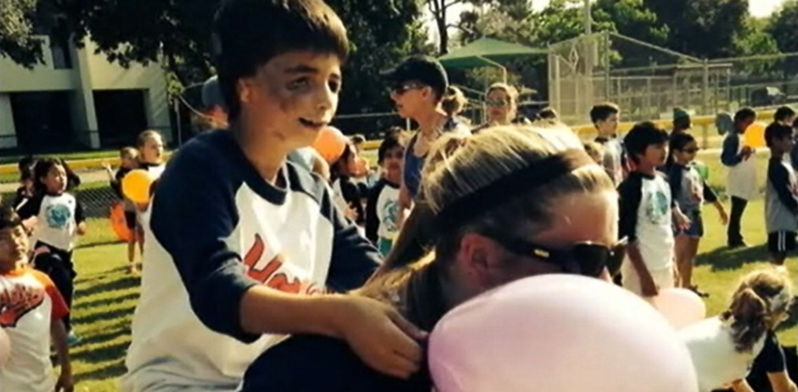 VIDEO: Tiffany Thorn made sure one of her third-grade students crossed the finish line at Field Day.