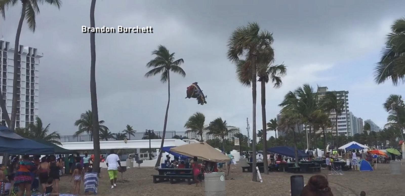 VIDEO: Waterspout Sends Bounce House Flying With Children Inside