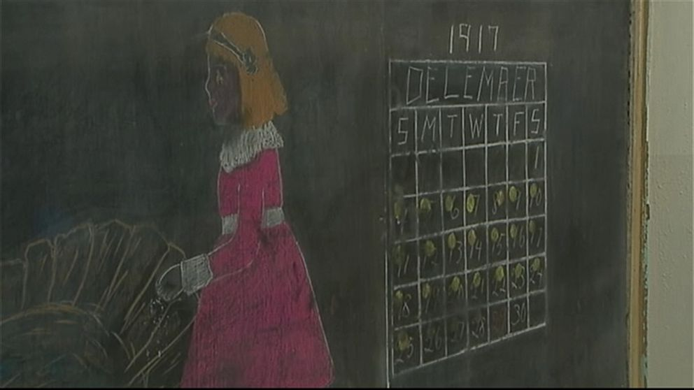100yearold chalkboard lessons discovered in oklahoma