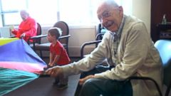VIDEO: Intergenerational learning brings kids and elderly together in a Seattle preschool.
