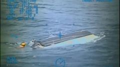 VIDEO: The US Coast Guard released video of the capsized boat belonging to 14-year-olds Austin Stephanos and Perry Cohen that was found 67 nautical miles off Ponce de Leon Inlet.