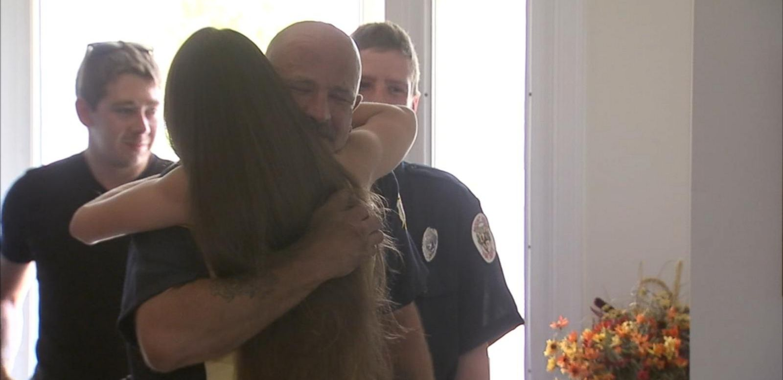 VIDEO: After waitress Liz Woodward paid for their meal, New Jersey firefighters Tim Young and Paul Hullings wanted to return the generosity by raising money for a handicap accessible van for her father.
