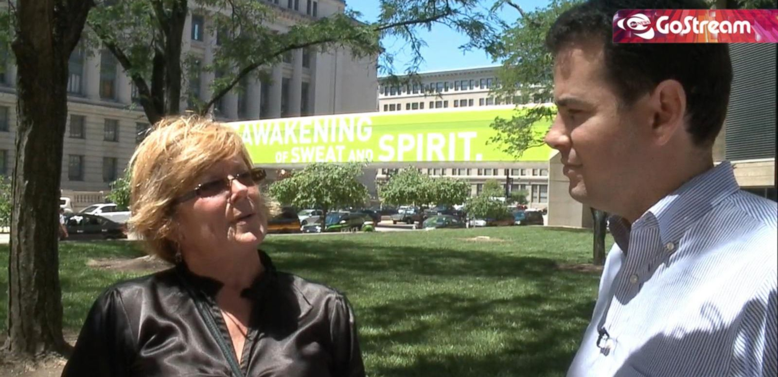 VIDEO: GoStream: Outside Courthouse Where U. of Cincinnati Officer Arraigned on Murder Charges